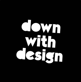 down with design logo