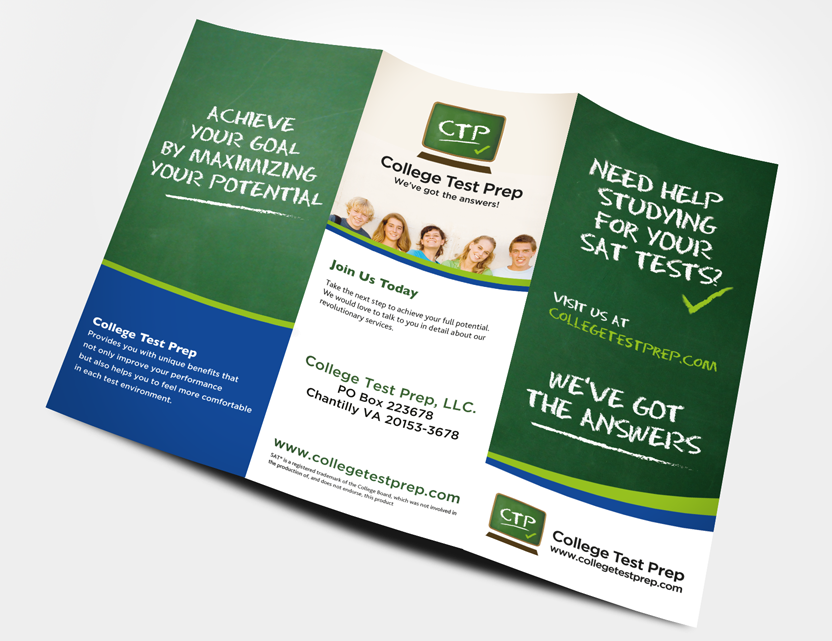 College Test Prep Collateral – College Brochure