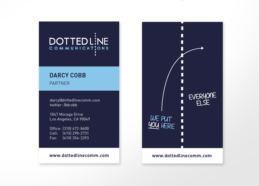Dotted Line Communications Business Cards