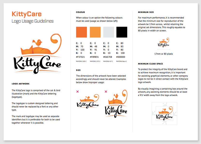 KittyCare Logo Usage Guidelines