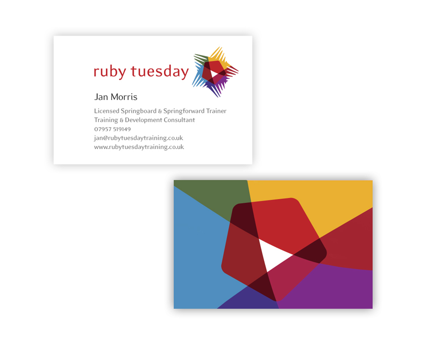 Business card design for Ruby Tuesday