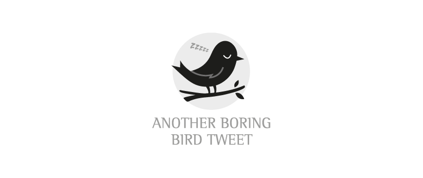 Another Boring Bird Tweet Logo Design