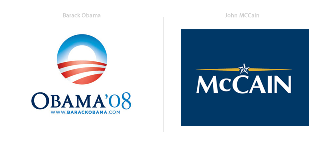 20 Years of US Presidential Election Campaign Logos | down ...